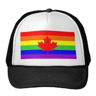 canada country gay proud rainbow flag homosexual cap