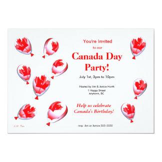 Canada Day Balloons 13 Cm X 18 Cm Invitation Card