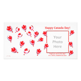 Canada Day Balloons Photo Greeting Card