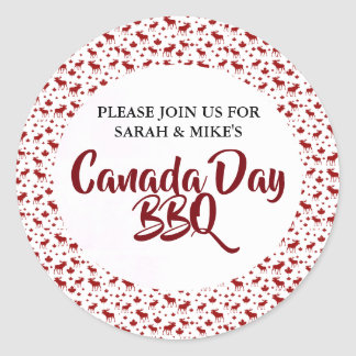Canada Day BBQ Stickers