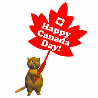 Canada Day Beaver and Maple Leaf Photo Cutouts
