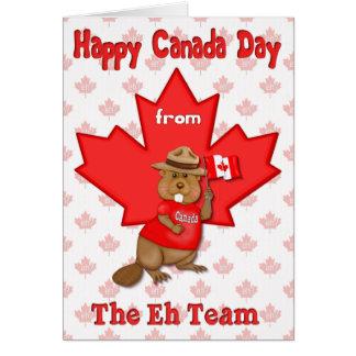 Canada Day Eh Team Card