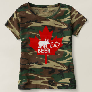 Canada Day Maple leaf Beer Eh? camouflage shirt