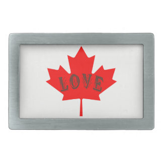 Canada Day  maple leaf love custom belt buckle
