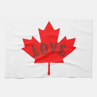 Canada Day  maple leaf love custom towel