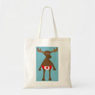 Canada Day Moose Budget Tote Bag