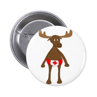 Canada Day Moose Button