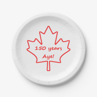 Canada day paper plates