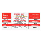 Canada Day Party Concert Ticket Invitation