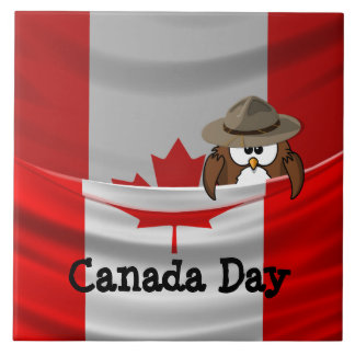 Canada Day Large Square Tile