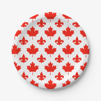 Canada Day Your Background Color Paper Plate