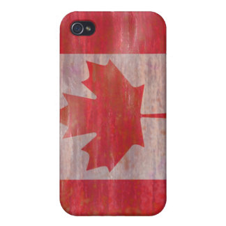 Canada distressed Canadian flag Case For iPhone 4