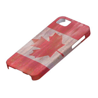 Canada distressed Canadian flag iPhone 5 Case