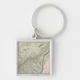 Canada East Silver-Colored Square Key Ring