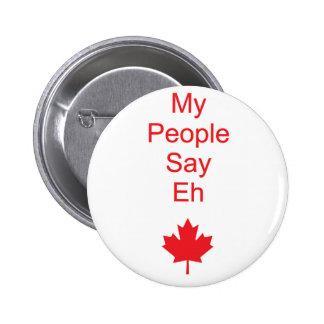 Canada eh 6 cm round badge