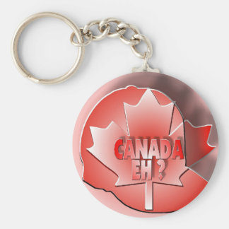 CANADA EH? BASIC ROUND BUTTON KEY RING