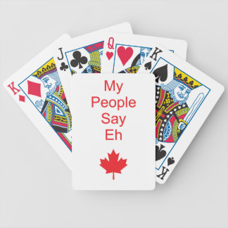 Canada eh bicycle playing cards