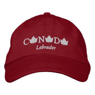 Canada Embroidered Red Ball Cap - Labrador Embroidered Baseball Cap