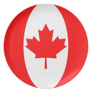 Canada Fisheye Flag Plate