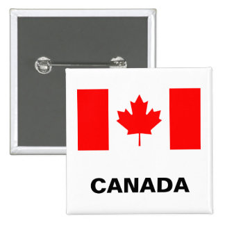 Canada Flag 15 Cm Square Badge