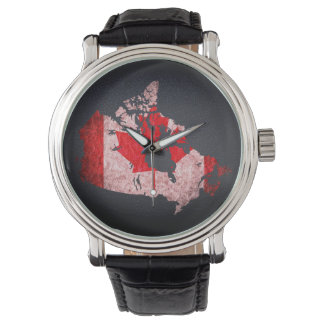 Canada Flag and Map Watch