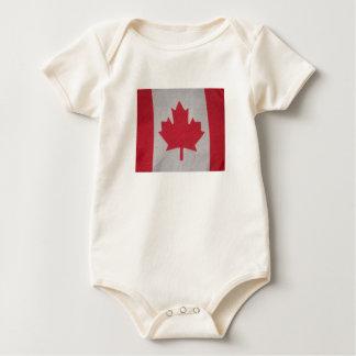 Canada flag baby sleeper baby bodysuit
