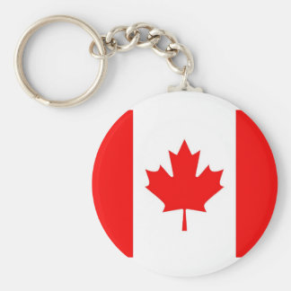 Canada Flag Basic Round Button Key Ring