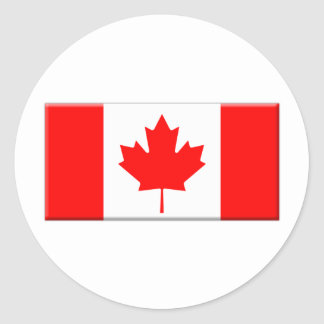 Canada-flag-bevelled edge stickers