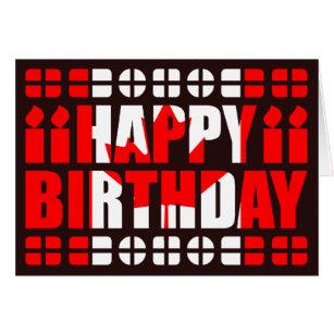 Canadian birthday cards invitations zazzle canada flag birthday card bookmarktalkfo Gallery