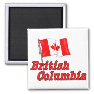 Canada Flag - British Columbia Square Magnet