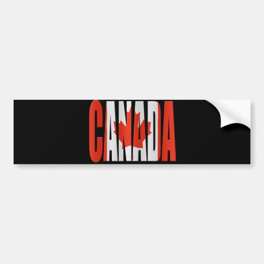 Canada + Flag Bumper Sticker