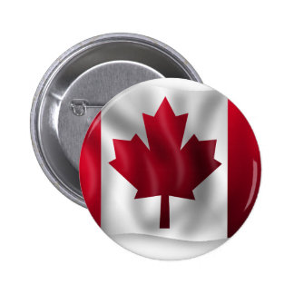 Canada Flag Canadian Country Emblem Leaf Maple 6 Cm Round Badge