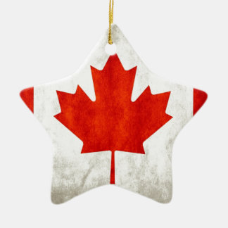 Canada Flag Ceramic Star Decoration