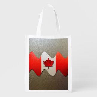 Canada Flag-Chrome Reusable Grocery Bags