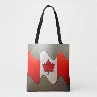 Canada Flag-Chrome Tote Bag