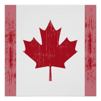 CANADA FLAG FADED POSTER