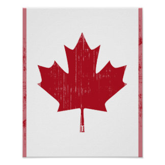 CANADA FLAG FADED POSTERS