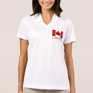 Canada Flag Golf Shirt Women's Canada Polo Shirts