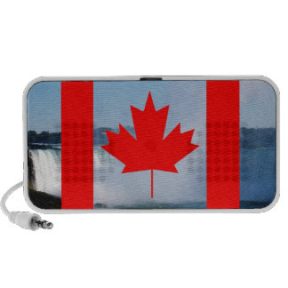 Canada flag, Happy Canada Day, red maple leaf Travelling Speakers