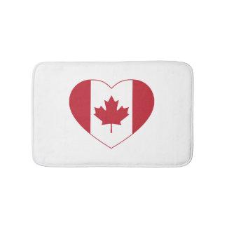 Canada Flag Heart Bath Mat Bath Mats