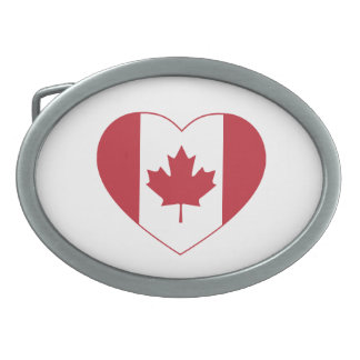 Canada Flag Heart Belt Buckle