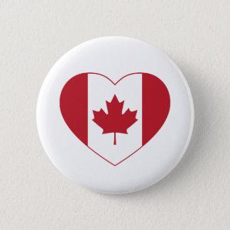 Canada Flag Heart Button