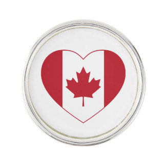 Canada Flag Heart Lapel Pin