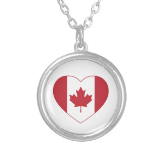 Canada Flag Heart Necklace