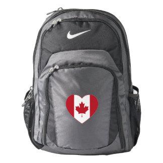Canada Flag Heart Nike Backpack