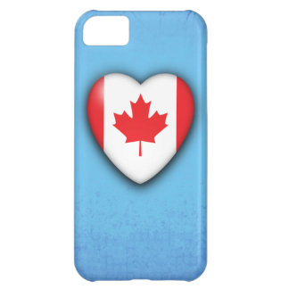Canada Flag Heart on ice blue background. iPhone 5 iPhone 5C Case