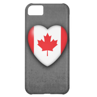 Canada Flag Heart on mono background. iPhone 5. iPhone 5C Case