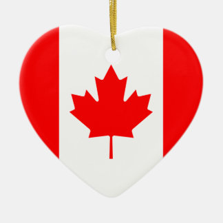 Canada Flag Heart Ornament