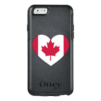 Canada Flag Heart OtterBox iPhone 6/6s Case