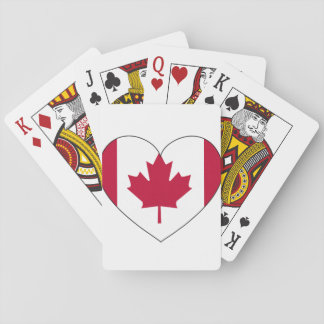 Canada Flag Heart Playing Cards
